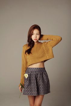 Crop Knit Sleeve Sweater