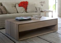 Nordic Oak Coffee Table with Drawer                                                                                                                                                                                 More