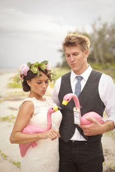 pink flamingo wedding by stephanieasmith.com