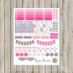 This Pink and Gray Themed Planner Sticker set is the perfect way to add a pop of color to your planner layouts! This Pink Dahlia Set includes a