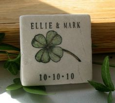 Shamrock Save The Date Magnets Irish Wedding by MyLittleChick, on Etsy.com