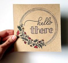 Hand Lettering Envelopes, Mail Art Envelopes, Hand Lettering Art, Kraft Envelopes, Wreath Drawing, Card Drawing, Calligraphy Cards, Calligraphy Hello, Calligraphy Birthday Card
