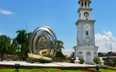 Queen Victoria Diamond Jubilee clock towe located in Georgetown Penang. It is a historical clock tower with Moorish-designed.