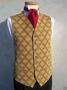 Mens Antique Gold and Rose Brass Buttons Wedding Dress Waistcoat 36 38 40 42 44