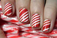 Candy Cane Stripes! #NailArt