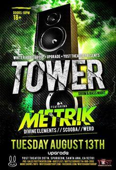 Metrik Tower Lineup #dnb #drumandbass #junglist