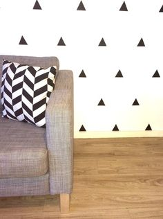 Triangles Removable vinyl wall decals. Interior design • kids rooms • nursery • girls rooms • boys rooms Removable Vinyl Wall Decals, Girl Nursery, Triangles, Kids Rooms, Girl Room, Boys, Girls, Interior Design, Home Decor