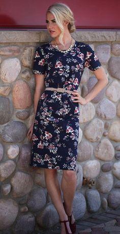 Modest Haven Dress - www.modestpop.com - floral knee length dress, modest fashion, classy
