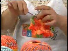 Crochê - Flor dália Cristina Luriko