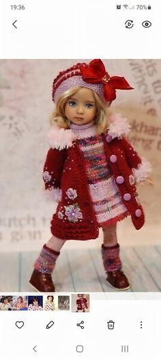Doll Clothes, Crochet Hats, Dolls, Fashion, Knitting Hats, Baby Dolls, Moda, Fashion Styles, Puppet