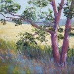 Pastel pendant un stage. Landscape pastel painting by Véronique BEC
