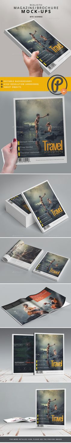 Magazine / #Brochure #Mock-Ups - #Magazines Print Download here: https://graphicriver.net/item/magazine-brochure-mockups/19515892?ref=alena994