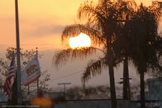 The May 20, 2012 solar eclipse is almost over as the sun settles into the marine layer in San Diego, CA.