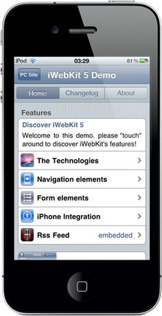 iWebKit Download the most used iPhone Webapp framework on the net