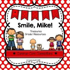 Smile, Mike!  - First Grade Treasures - Common Core Connections for comprehension, phonics, high frequency words, grammar, and fluency.  Games, centers, printables!  Easy prep!