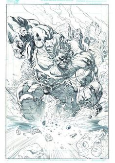 Art Charity for Indonesia. The HULK! I really enjoy drawing this. Hulk is always fun to draw. Thanks for viewing! Comic Book Artists, Comic Book Characters, Comic Artist, Comic Books Art, Art Sketches, Art Drawings, Hulk Artwork, Comic Book Drawing, Hq Marvel
