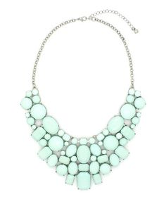 Another great find on #zulily! Mint & Silver June Statement Necklace #zulilyfinds