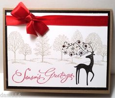 SEASONS GREETINGS REINDEER Dasher Card Kit made with Stampin Up products | eBay