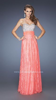 LaFemme lace prom gown #prom2014 #jbbridals