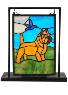 "6 Inch W X 9 Inch H Cairn Terrier Lighted Mini Tabletop Window - 6 Inch W X 9 Inch H Cairn Terrier Lighted Mini Tabletop Window Theme: ANIMALS Product Family: Cairn Terrier Product Type: NOVELTY LAMPS AND ACCESSORIES Product Application: Color: LTVA HA 59 Bulb Type: CNDL Bulb Quantity: 1 Bulb Wattage: 60 Product Dimensions: 10.5""H x 9.5""W x 5""DPackage Dimensions: NABoxed Weight: 2 lbsDim Weight: 8 lbsOversized Shipping Reference: NAIMPORTANT NOTE: Every Meyda Tiffany item is a unique…"