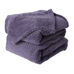 Piccocasa Luxury Fleece Bed Blanket Woven Mesh Flannel Throw Blanket for Bed Couch Sofa
