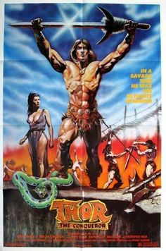 THOR THE CONQUEROR - 1983 - Orig 27x41 Movie Poster - GREAT SWORD & SANDAL Art!!