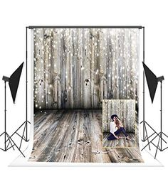 New Sliver Stars Backdrop Christmas Hanging Decor Photo Backdrop Rustic Brick Wall Wooden Floor Photography Background for Kids Children 7x5ft Customized Photo Booth Props