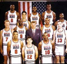 The Dream Team 1992 Basketball Team - including Scottie Pippen, Larry Bird, Karl Malone, Magic Johnson and Michael Jordan