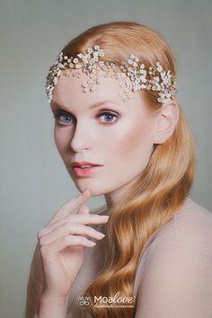 Bridal Headpiece | Wedding Hair Accessory | Bridal Adornment | Bridal Wreath | Floral motive halo | Boho Wedding | Crystal vine | Style 602 by MoaLove on Etsy https://www.etsy.com/uk/listing/286970931/bridal-headpiece-wedding-hair-accessory