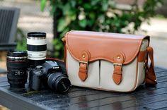 Canon Camera Bag  Canvas Camera Bag  The DSLR by camerabagstraps, $56.99