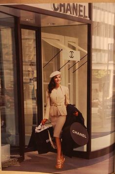 I really like this vintage Chanel ad. (That outfit is the business lol).