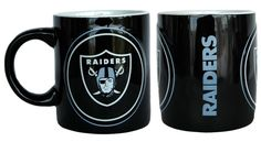 Oakland Raiders Coffee Mug - 14oz Sculpted Warm Up