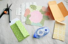 Mini Envelopes: A great way to use up paper scraps :) Inspired by this  fabulous post I found via pinterest, I decided to take apart a mini ...