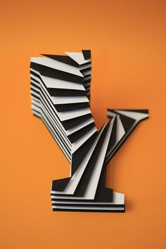 Jerome Corgier Paper Sculptured Letters - layers of cut paper