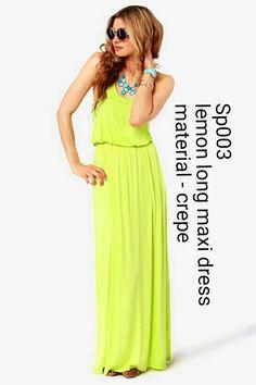 Lemon long maxi dress