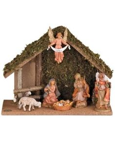 Roman Fontanini Nativity 7-Piece Set with Stable - Multi