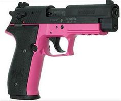 No one wants to get shot with a pink gun, so you definitely don't mess with a girl with  pink gun