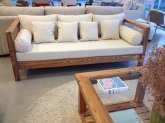 Arrimadero y mesa de madera #filipponideco