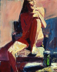 Terry St. John (b. 1934), Woman Reflecting, 2002. oil on canvas, 60 x 48 inches