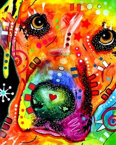 Rainbow colors ❖de l'arc-en-ciel❖❶Toni Kami Colorful Labrador Pop Art Dean Russo