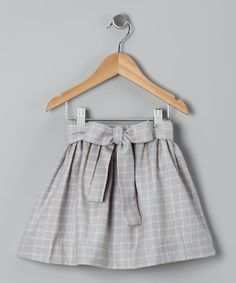 Take a look at this Gray Satin Quincie Skirt - Girls by Sophie Catalou on #zulily today!