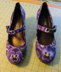 Refashioned pansy shoes | Flickr - Photo Sharing!