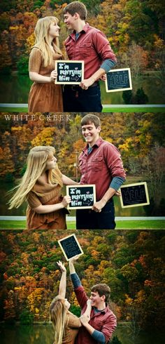 Fun Engagement Session Signs  #photographyprops #props #engagementsession #engagementpictures #photography #whitecreekphotography #couples #weddings #autumn #fall