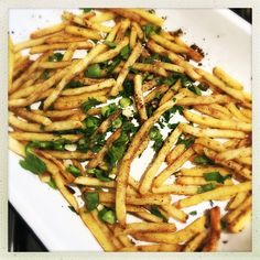 Healthier homemade Chinese style salt and pepper chips - we love these, so perfect with spicy chicken wrap