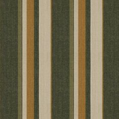 Drummond Stripe Fabric A stripe fabric with a herringbone weave in taupe, gold, green and cream.