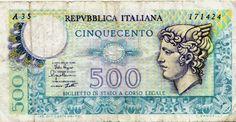 500 Lire Italian Banknote from 1974