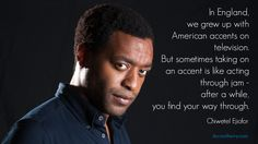 """The """"12 Years a Slave"""" Oscar winner states how difficult it can be to produce an American accent. 12 Years A Slave, British Accent, Oscar Winners, Celebration Quotes, Thing 1 Thing 2, Growing Up, Acting, American, Celebrities"""