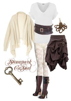 """Steampunk Casual"" by kristinamelane ❤ liked on Polyvore featuring WearAll"