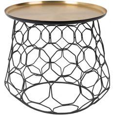 Konferenční stolek DUTCHBONE MOULIN Ø 54 cm, mosaz/černá