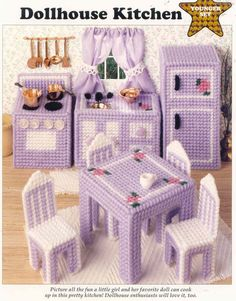 Dollhouse Kitchen ~ Plastic Canvas Pattern